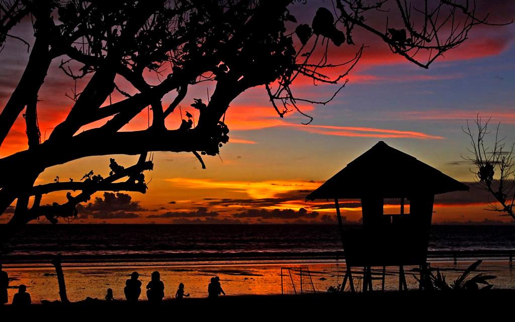 Bali Hut Sunset