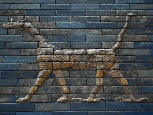 Detail on Ishtar gate of Babylon, Pergamonmuseum, Berlin
