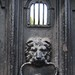 Sutton's hospital, Charterhouse Square, lion door knocker