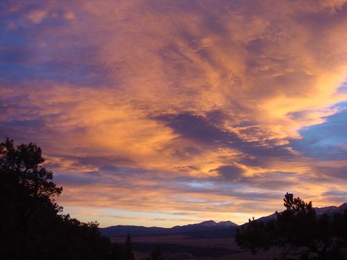 winter sunset nature colorado buenavista co
