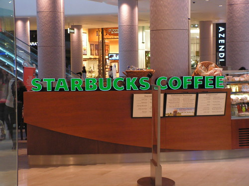 Brands, Starbucks Coffee, Westfield shopping mall London