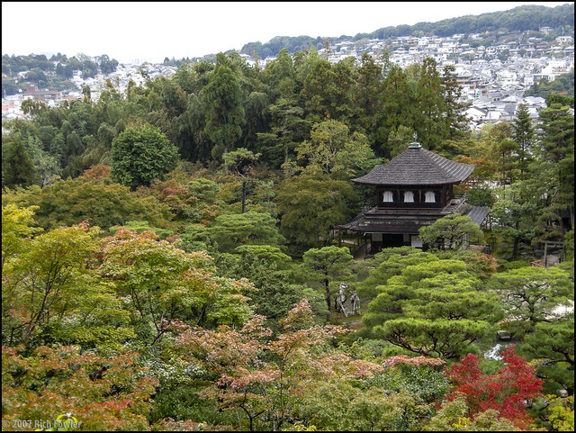 View of Kyoto and Ginkakuji