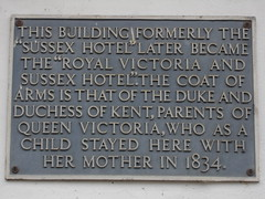 Photo of Victoria and Victoria grey plaque
