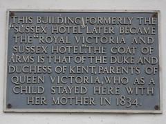 Photo of Victoria and Victoria grey plaque