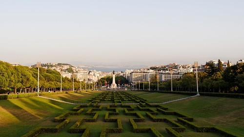Praça Marquês de Pombal, Parque Eduardo VII. Lisbon. Portugal