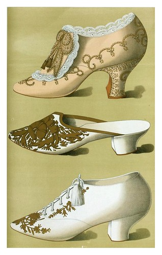 022-calzado  con encajes bordados en oro - zapatilla Argel con cubierta de oro estampadas- zapato de tarde Oxford--Ladies' dress shoes of the nineteenth century-1900-Greig T. Watson