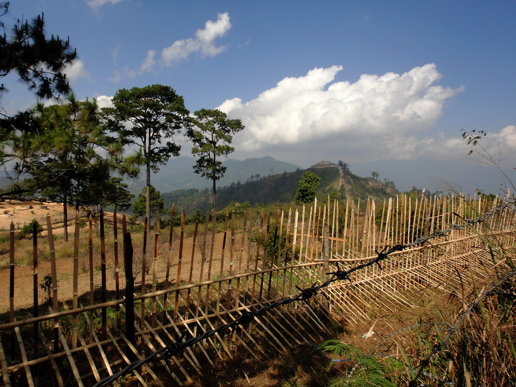 Pike and Barbed Wire Fences at Thai-Myanmar Border