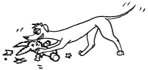 Comic-Whippet Augenoperateur