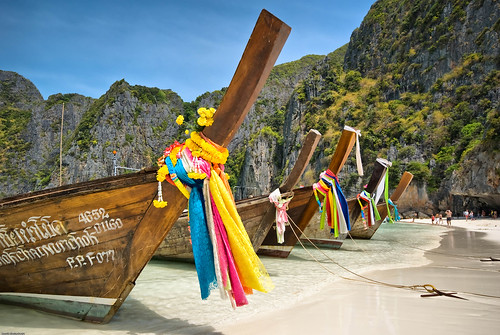 Maya Bay Parking Lot - Koh Phi Phi, Thailand
