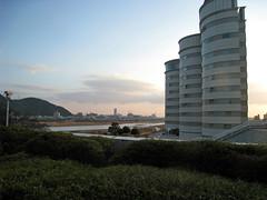 長良川国際会議場からみた岐阜都ホテル