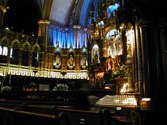 Tight shot of altar at Notre-Dame Basilica