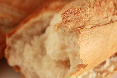 Crusty Bread Extreme Close Up
