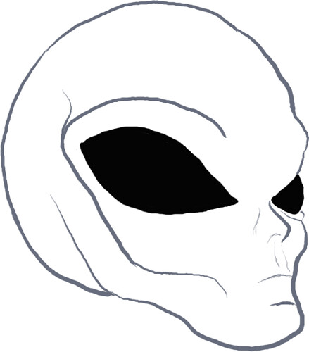 alien head drawing - photo #5