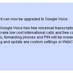 Google voice I has it