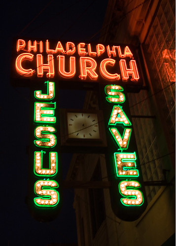 Philadelphia Church neon sign by William 74