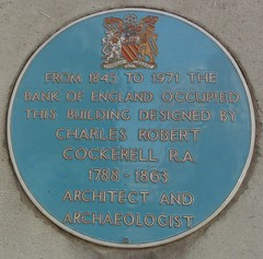 Photo of Charles Robert Cockerell and Bank of England blue plaque