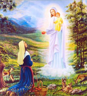 Le Laus, apparition de Notre-Dame à Benoîte Rencurel