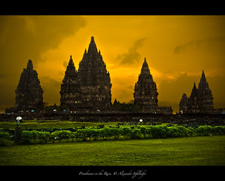 Prambanan in the Rain