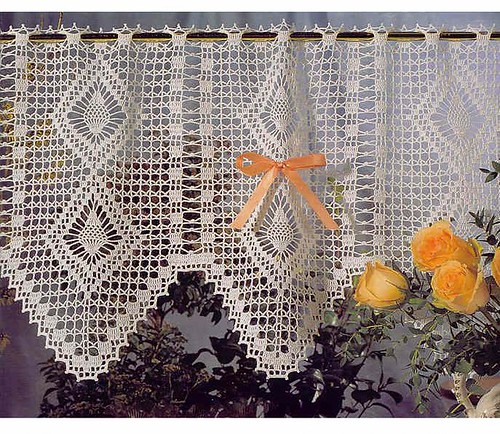 Crochet curtain pattern valances crochet patterns for Cortinas de ganchillo