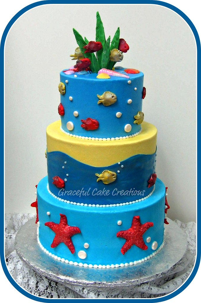 Under The Sea Birthday Cake A Photo On Flickriver
