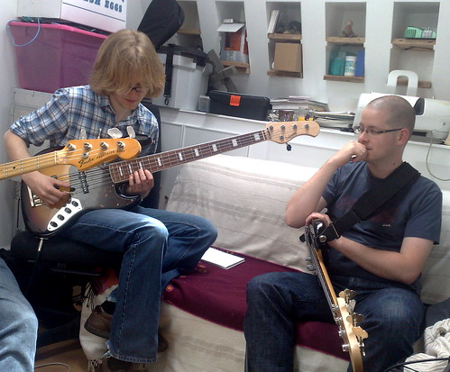 Kevin and Lee at Beyond Bass Camp