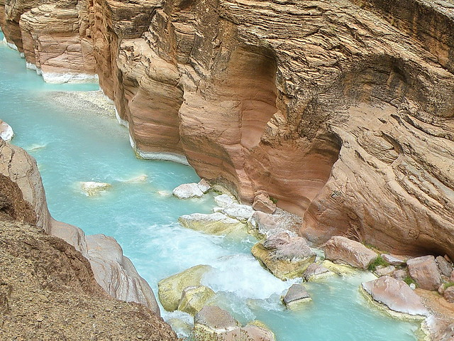 Havasu Creek from trail - Grand Canyon