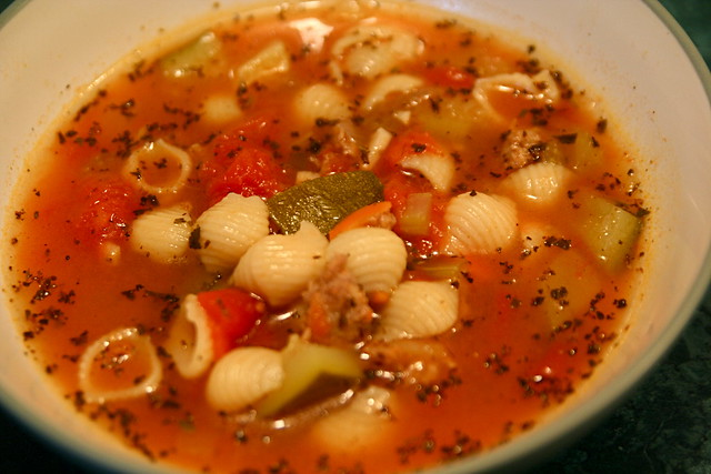 Zucchini Sausage Vegetable Pasta Soup 10-11-09 -- IMG_6781 | Flickr ...