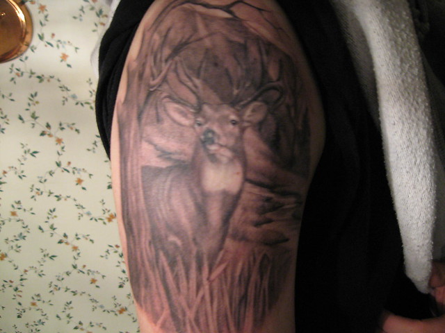 Buck Deer Tattoo Designs
