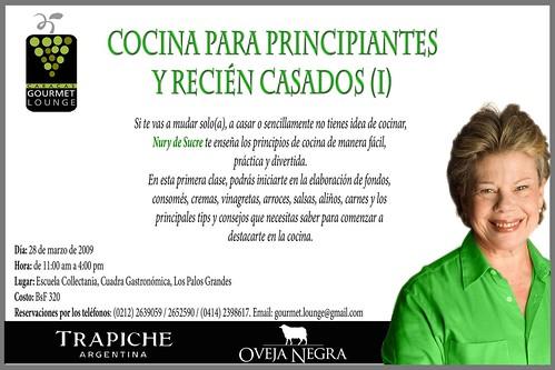 Curso de cocina para principiantes dictar nury sucre for Cocina para principiantes