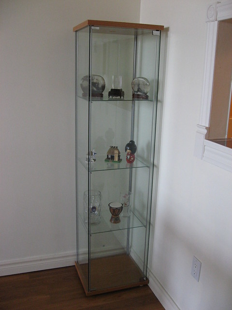 Ikea Detolf Glass Cabinet Review ~ Glass door cabinet – IKEA  Cabinets sideboards  Display