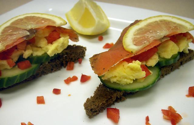 Smoked Salmon Smorrebrod