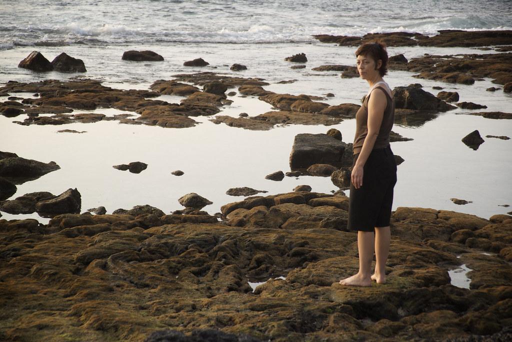 Sis on the Kona Rocks