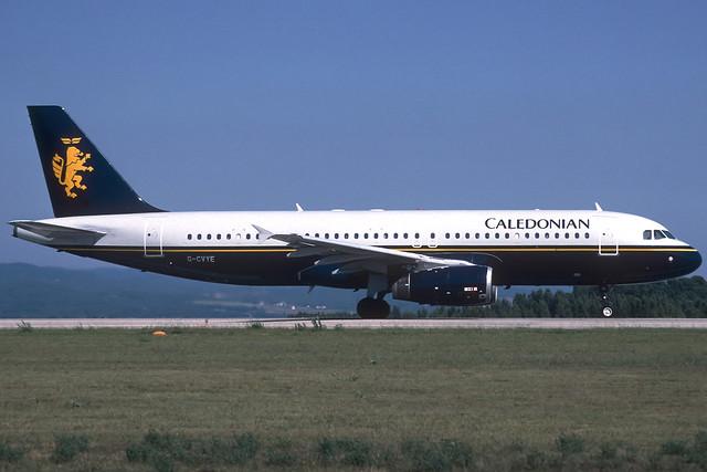 Caledonian A320-231 G-CVYE GRO 07/08/1998