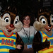Beth with Chip and Dale