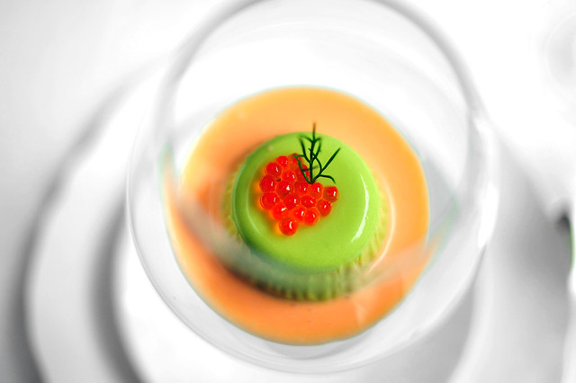 Amuse: Cucumber Panna Cotta | Flickr - Photo Sharing!