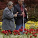 Blind man enjoying Butchart Gardens with friend (160mm / 240mm; 1/400; f/8)