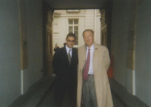 Arash Derambarsh et l'Ambassadeur François Nicoullaud