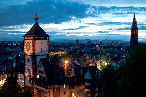 Freiburg at night I