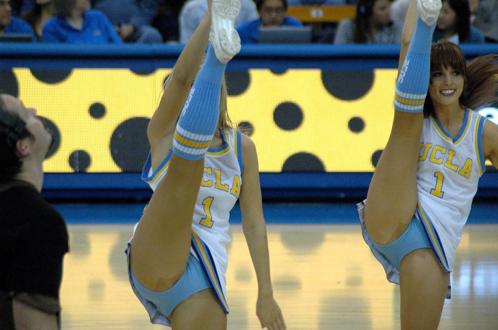 cheerleader high kicks and pantyhose