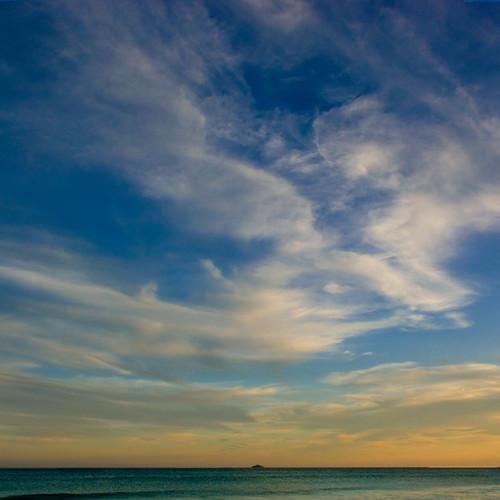 sunset sea newzealand sky beach clouds square island nz otago dunedin whiteisland bsquare supereco ©borealnz