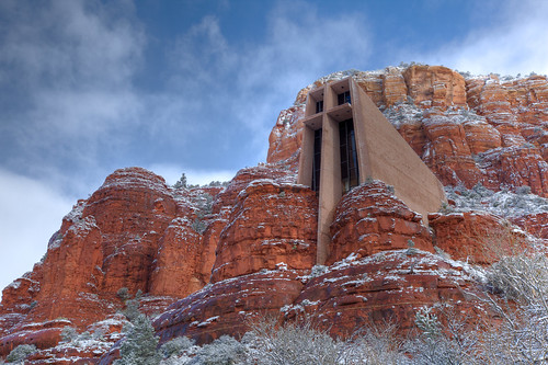 winter red arizona sky cliff mountain snow cold church beautiful landscape religious rocks catholic cross sedona sunny chapel clear holy explore mesa flickrsbest