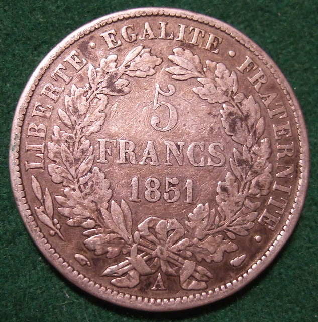 France Third Republic 1851 Five Francs A Flickr