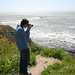 Josh at Pigeon Point by davidkoiter
