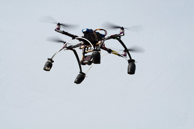 how to make a flying robot with camera