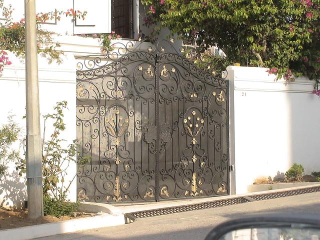 Porte ext rieure en fer forg tunis maisons by - Porte bois fer forge ...