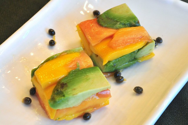 compressed papaya mango and avocado salad | Flickr - Photo Sharing!