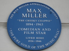 Photo of Max Miller blue plaque