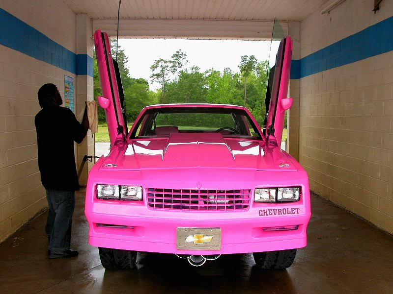 1980s Pink Monte Donk With Lambo Doors A Photo On Flickriver