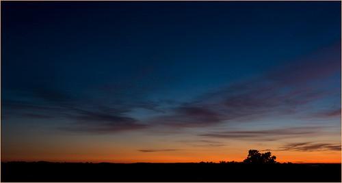 blue red sky color clouds sunrise landscape maine scenic