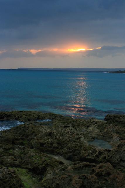 落日貝殼砂